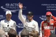 Lewis Hamilton décroche la pole