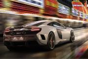 Un V8 McLaren lumineux