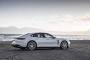 Banc d'essai Porsche Panamera 2018: Virage vert