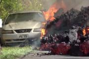 Amateurs de Mustang, ne regardez pas cette terrible vidéo d'une Mustang avalée par la lave duKilauea