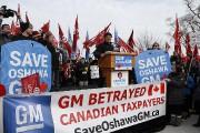 Manifestation contre la fermeture de GM à Oshawa