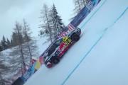 Une Audi électrique grimpe la piste la plus à pic de la Coupe du monde de ski