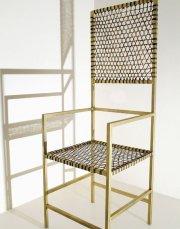 La chaise Capitaine en babiche revisitée par le... (Photo fournie par la Galerie Commissaires) - image 1.0