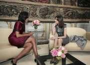 Michelle Obama et Carla Bruni-Sarkozy, qui se sont rencontrées... (Photo: AFP) - image 2.0