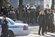 Environ 200 jeunesde l'école secondaire St-Maxime, dans le... (Photo: Patrick Sanfaçon, La Presse) - image 2.0