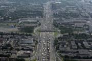 L'autoroute métropolitaine, à Montréal, vers l'ouest près d'Anjou.... (Photo: Bernard Brault, La Presse) - image 1.0