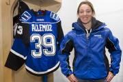 Marion Allemoz est capitaine de l'équipe de hockey... (Photo: Robert Skinner, La Presse) - image 2.0
