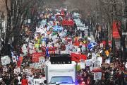 Les étudiants ont notamment emprunté le boulevard Saint-Laurent.... (Photo: Patrick Sanfaçon, La Presse) - image 1.0
