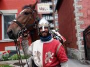 Le chevalier Vincent-Gabriel Kirouac et sa jument, Coeur... (Simon Séguin-Bertrand, LeDroit) - image 2.0