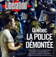 Le quotidien français Libération a mis la crise... (Photo: capture d'écran) - image 1.0
