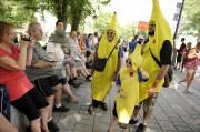 Un habitué des manifestations dans la capitale, «Banane... (Photo Le Soleil, Patrice Laroche) - image 1.0
