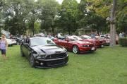 En plus des anciennes gloire de la marque, on trouvait plusieurs Mustangs de la dernière génération à Watkins Glen au U.S. Vintage Grand Prix.