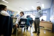 En quelques semaines, les jeunes arrivants communiquent en... (Photo Marco Campanozzi, La Presse) - image 2.0