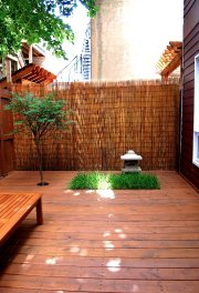La cour est d'inspiration japonaise.... (Photo fournie par Hélène Breton) - image 1.0
