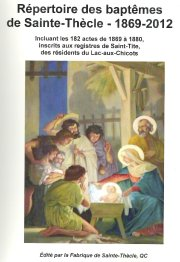La fabrique de Sainte-Thècle procédera demain, après la... - image 1.0