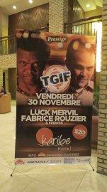 Le nom de Luck Mervil sur une affiche... (Photo Valérie Gaudreau) - image 2.0