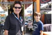 Ron Fellows en compagnie de son fils Patrick, au Circuit Gilles-Villeneuve en août 2010.