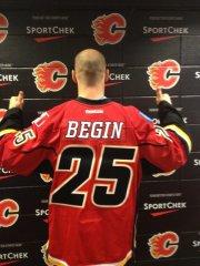 L'attaquant Steve Bégin a signé un contrat d'un an,... (PHOTO TIRÉE DE TWITTER) - image 2.0