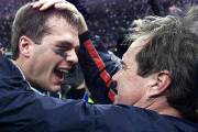 Tom Brady et Bill Belichick des Patriots, en... (Photo Jeff Haynes, Agence France-Presse) - image 2.0