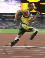 Oscar  Pistorius est entré   dans... (Photo Bernard Brault, La Presse) - image 2.0