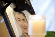 Portrait de Lin Jun lors de ses funérailles,... (Photo: Marco Campanozzi, archives La Presse) - image 1.0