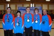 L'équipe masculine de curling a remporté la médaille... (Photo fournie par Kristina Noury) - image 1.0