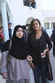 Nour el-Fahem et Bacha Hadiane, deux étudiantes au... (PHOTO WASSIM BEN RHOUMA, LA PRESSE) - image 2.0