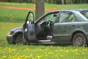 La voiture du fuyard... (Photo: Stéphane Lessard) - image 1.0
