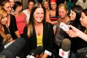 Le sourire d'Audrey Trudel (au centre), porte-parole des... (Photo: Émilie O'Connor) - image 1.1