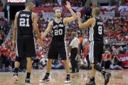 Tim Duncan, Manu Ginobili et Tony Parker.... (Photo Mark J. Terrill, AP) - image 3.0