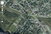 Le centre-ville de Lac-Mégantic est... (Capture d'écran tiré de Google map) - image 4.0