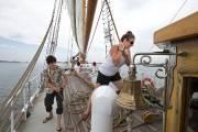 Jusqu'au 13 juillet, le voilier-école d'Ecomaris propose une... (PHOTO ROBERT SKINNER, LA PRESSE) - image 3.0