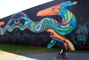 La murale colorée et colossale, réalisée par Phelipe... (Le Soleil, Erick Labbé) - image 1.0