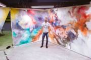 Matt Shane peint un paysage qui recouvre entièrement... (Simon-Charles Couture-Labelle, collaboration spéciale) - image 3.0