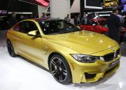 La nouvelle BMW M4, version coupé de la M3, trônait également au stand BMW.
