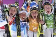 Ida Ingemarsdotter, Charlotte Kalla, Anna Haag et Emma... (PHOTO SERGEI KARPUKHIN, REUTERS) - image 1.0