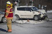 Un accident de la route survenu le 12... (Photo Patrick Sanfaçon, Archives La Presse) - image 1.0