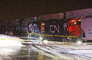 Une collision entre deux locomotives du CN suivi... (Photo Félix O.J. Fournier, La Presse) - image 1.0