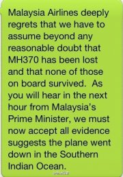 La Malaisie a levé lundi une partie du mystère sur le volMH370 en informant... - image 2.0