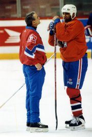 Mario Tremblay et Donald Brashear... (Photo Archives La Presse) - image 1.0