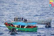 Un millier d'immigrants ont tenté de... (Photo MARINA MILITARE ITALIANA, AFP) - image 2.0