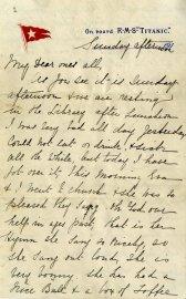 Une lettre écrite par une passagère du Titanic... (PHOTO ASSOCIATED PRESS) - image 1.0