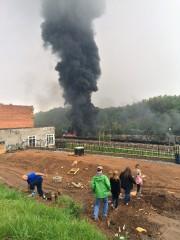 Les autorités procédaient à l'évacuation de plusieurs édifices,... (Photo Charles Peters, AP) - image 1.0