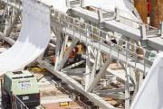 Une poutre dutreillis qui remplacera la super-poutre.... (PHOTO OLIVIER PONTBRIAND, LA PRESSE) - image 1.0