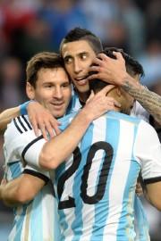 Lionel Messi, Angel Di Maria et Sergio Aguero.... (Photo Maxi Failla, AFP) - image 3.0