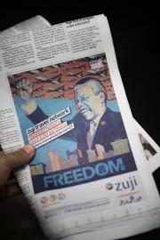 La publicité est parue mardi en première page... (PHOTO PHILIPPE LOPEZ, AFP) - image 2.0