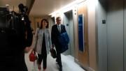 Nathalie Normandeau arrivant à la commission Charbonneau... (Photo tirée de Twitter/Daphné Cameron) - image 1.0