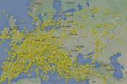 Une image radar montre le trafic aérien évitant... (Photo tirée de Twitter/Flightradar24) - image 1.1