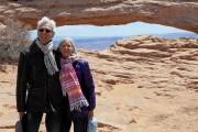 Paul et Lise à l'arche de Mesa dans... (Photo fournie par Paul Roux) - image 2.0