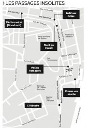 Localisation des Passages insolites... (Infographie Le Soleil) - image 1.0